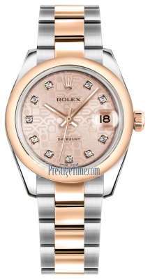Rolex Datejust 31mm Stainless Steel and Rose Gold 178241 Jubilee Pink Diamond Oyster