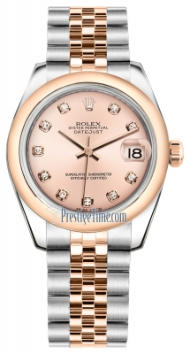 Rolex Datejust 31mm Stainless Steel and Rose Gold 178241 Pink Diamond Jubilee