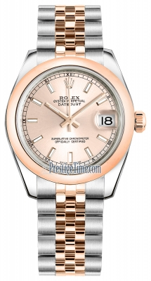 Rolex Datejust 31mm Stainless Steel and Rose Gold 178241 Pink Index Jubilee