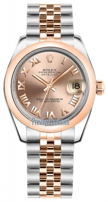 Rolex Datejust 31mm Stainless Steel and Rose Gold 178241 Pink Roman Jubilee