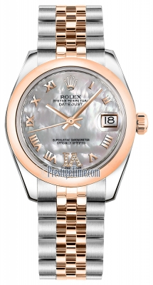 Rolex Datejust 31mm Stainless Steel and Rose Gold 178241 White MOP VI Roman Jubilee