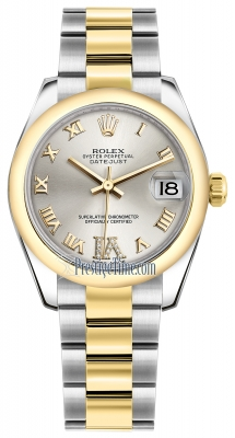 Rolex Datejust 31mm Stainless Steel and Yellow Gold 178243 Silver VI Roman Oyster