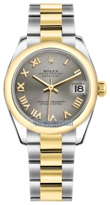 Rolex Datejust 31mm Stainless Steel and Yellow Gold 178243 Steel Roman Oyster