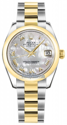 Rolex Datejust 31mm Stainless Steel and Yellow Gold 178243 White MOP Roman Oyster