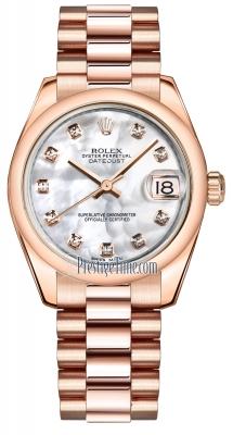 Rolex Datejust 31mm Everose Gold 178245 MOP Diamond President