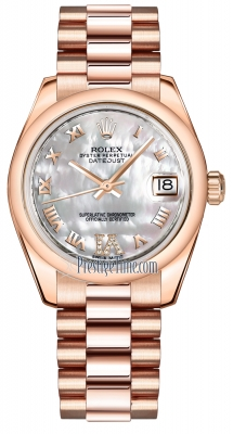 Rolex Datejust 31mm Everose Gold 178245 MOP VI Roman President