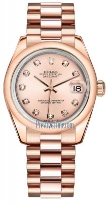 Rolex Datejust 31mm Everose Gold 178245 Pink Diamond President