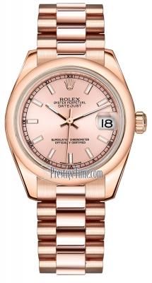 Rolex Datejust 31mm Everose Gold 178245 Pink Index President