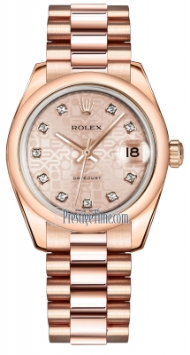 Rolex Datejust 31mm Everose Gold 178245 Pink Jubilee Diamond President
