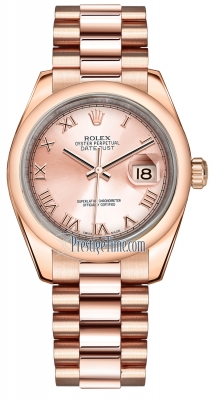 Rolex Datejust 31mm Everose Gold 178245 Pink Roman President