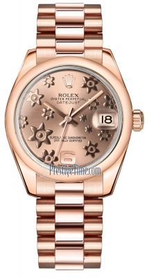 Rolex Datejust 31mm Everose Gold 178245 Pink Floral President