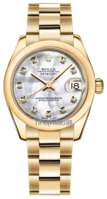 Rolex Datejust 31mm Yellow Gold 178248 MOP Diamond Oyster