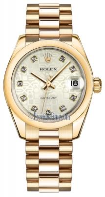 Rolex Datejust 31mm Yellow Gold 178248 Silver Jubilee Diamond President