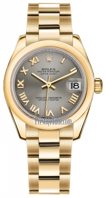 Rolex Datejust 31mm Yellow Gold 178248 Steel Roman Oyster