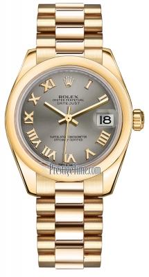 Rolex Datejust 31mm Yellow Gold 178248 Steel Roman President