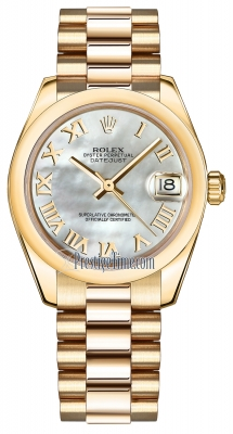 Rolex Datejust 31mm Yellow Gold 178248 MOP Roman President