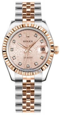 Rolex Datejust 31mm Stainless Steel and Rose Gold 178271 Jubilee Pink Diamond Jubilee