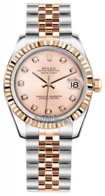 Rolex Datejust 31mm Stainless Steel and Rose Gold 178271 Pink Diamond Jubilee