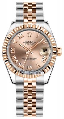Rolex Datejust 31mm Stainless Steel and Rose Gold 178271 Pink Roman Jubilee