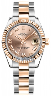 Rolex Datejust 31mm Stainless Steel and Rose Gold 178271 Pink Roman Oyster