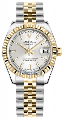 Rolex Datejust 31mm Stainless Steel and Yellow Gold 178273 Silver Index Jubilee