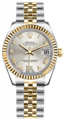 Rolex Datejust 31mm Stainless Steel and Yellow Gold 178273 Silver VI Roman Jubilee