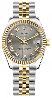 Rolex Datejust 31mm Stainless Steel and Yellow Gold 178273 Steel Roman Jubilee