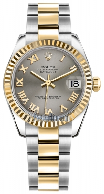 Rolex Datejust 31mm Stainless Steel and Yellow Gold 178273 Steel Roman Oyster