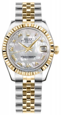 Rolex Datejust 31mm Stainless Steel and Yellow Gold 178273 White MOP Roman Jubilee