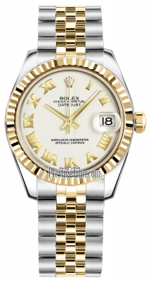 Rolex Datejust 31mm Stainless Steel and Yellow Gold 178273 White Roman Jubilee