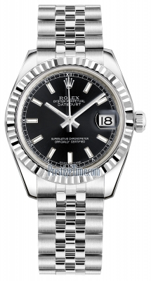 Rolex Datejust 31mm Stainless Steel 178274 Black Index Jubilee