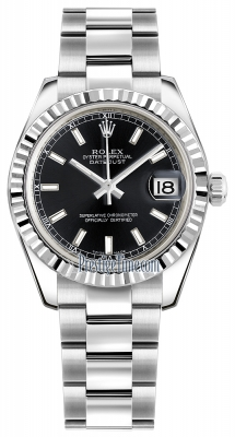 Rolex Datejust 31mm Stainless Steel 178274 Black Index Oyster