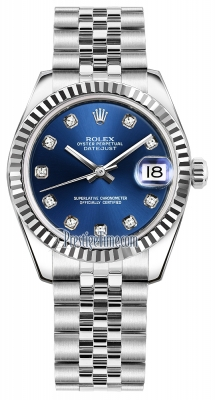 Rolex Datejust 31mm Stainless Steel 178274 Blue Diamond Jubilee