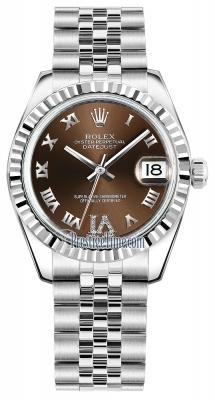 Rolex Datejust 31mm Stainless Steel 178274 Bronze VI Roman Jubilee