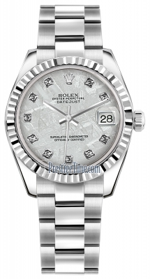 Rolex Datejust 31mm Stainless Steel 178274 Meteorite Diamond Oyster