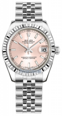 Rolex Datejust 31mm Stainless Steel 178274 Pink Index Jubilee