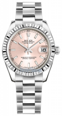 Rolex Datejust 31mm Stainless Steel 178274 Pink Index Oyster