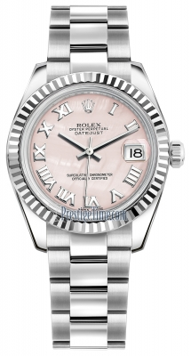 Rolex Datejust 31mm Stainless Steel 178274 Pink MOP Roman Oyster