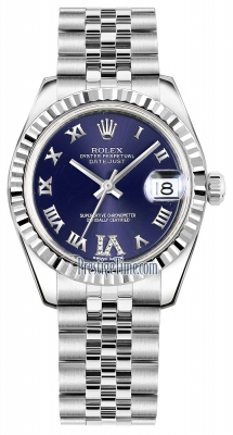 Rolex Datejust 31mm Stainless Steel 178274 Purple VI Roman Jubilee