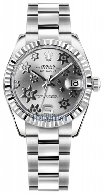 178274 Rhodium Floral Oyster