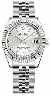 Rolex Datejust 31mm Stainless Steel 178274 Silver Index Jubilee