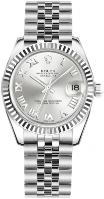 Rolex Datejust 31mm Stainless Steel 178274 Silver Roman Jubilee