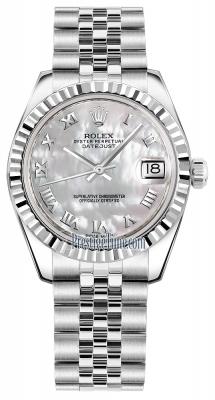 Rolex Datejust 31mm Stainless Steel 178274 White MOP Roman Jubilee