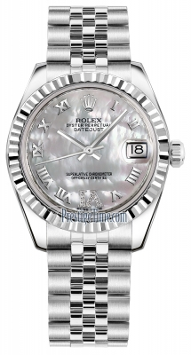 Rolex Datejust 31mm Stainless Steel 178274 White MOP VI Roman Jubilee