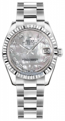 Rolex Datejust 31mm Stainless Steel 178274 White MOP VI Roman Oyster