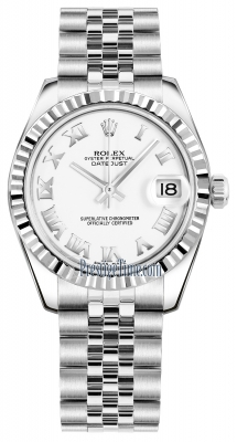 Rolex Datejust 31mm Stainless Steel 178274 White Roman Jubilee