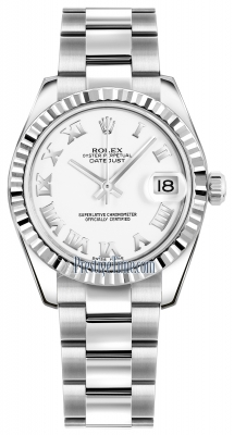 Rolex Datejust 31mm Stainless Steel 178274 White Roman Oyster