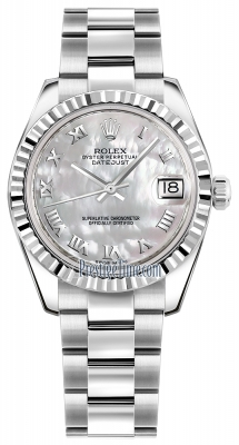 Rolex Datejust 31mm Stainless Steel 178274 White MOP Roman Oyster