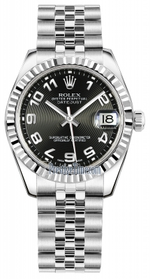 Rolex Datejust 31mm Stainless Steel 178274 Black Concentric Arabic Jubilee