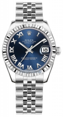 Rolex Datejust 31mm Stainless Steel 178274 Blue Roman Jubilee